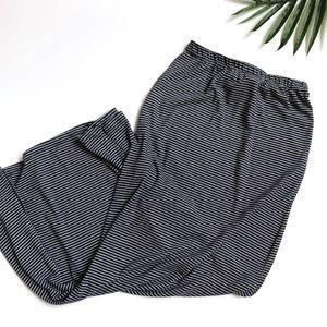 Free People Beach blue side slit maxi skirt